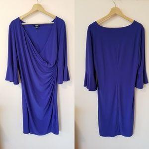 Blue Chaps Women's Ruched Wrap Dress